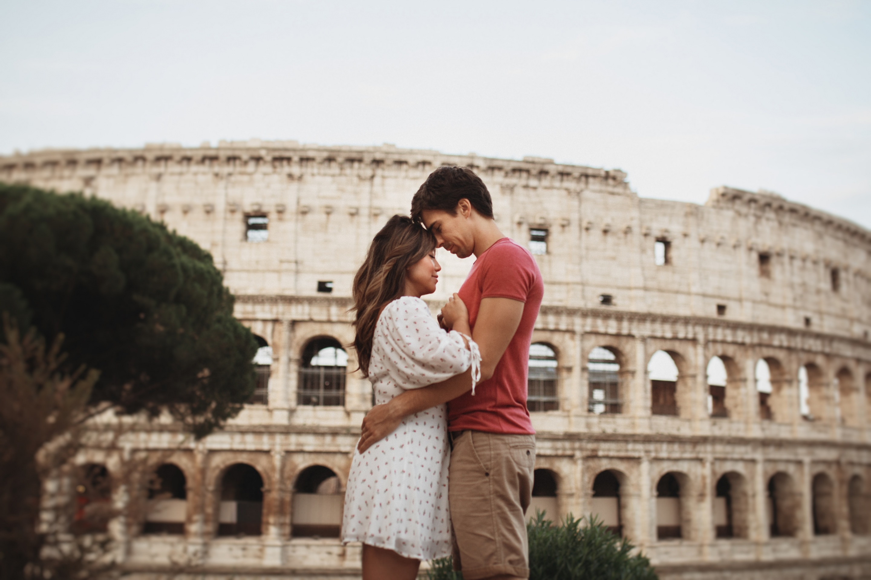 Sunrise Couples Session Colosseum Rome