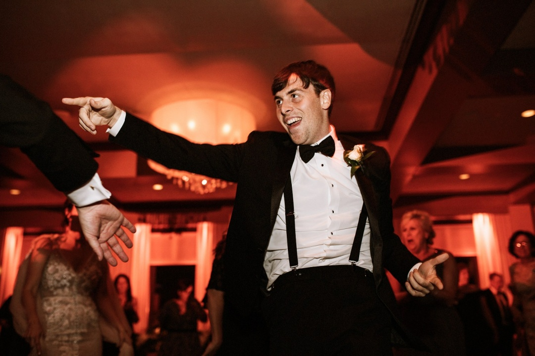 Ludlow Hotel Wedding - Man dancing at the reception