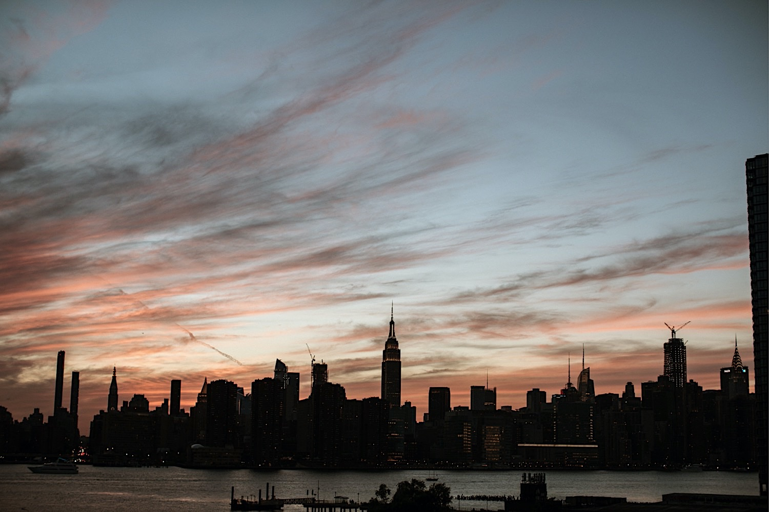 NYC skyline from the rooftop of Brooklyn Wedding Venue Greenpoint Loft