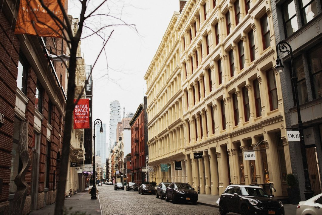 Cobblestone Streets and Cast-Iron Buildings in SoHo New York City
