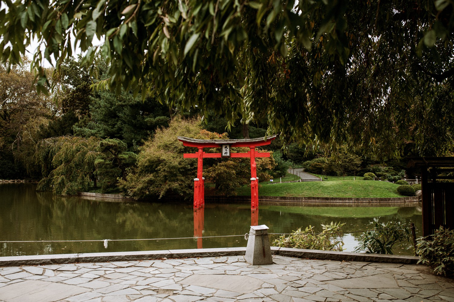 Wedding at the Brooklyn Botanic Japanese Hill and Pond Garden