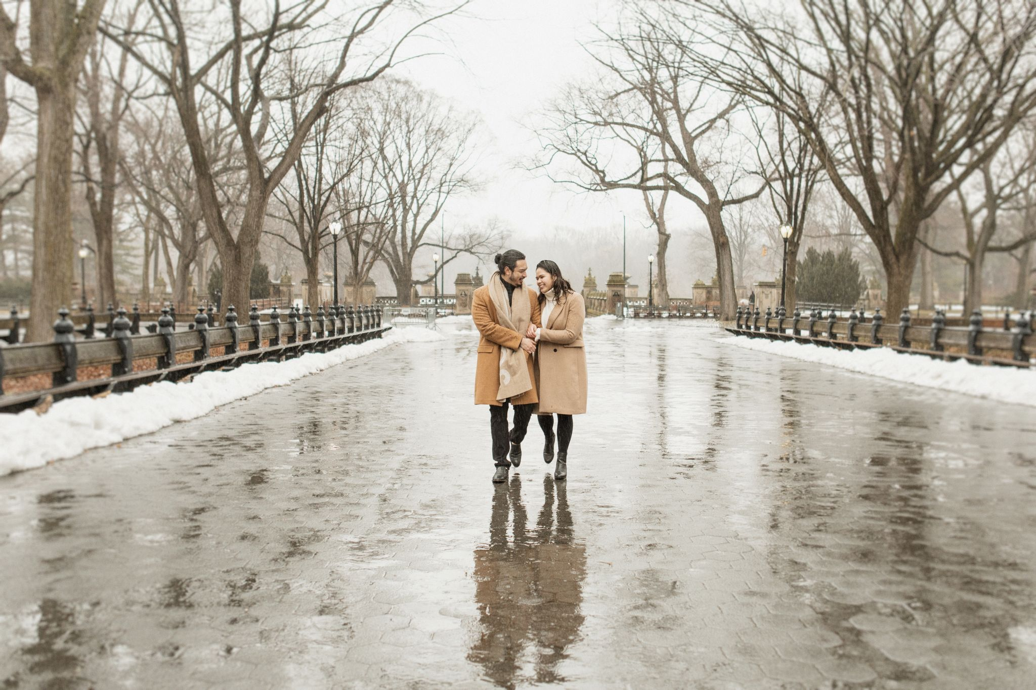 Romantic Central Park Proposal at the Lake